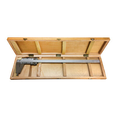 12 Inch300mm Inch Metric Included Wooden Case Heavy Duty Vernier Caliper Ruler
