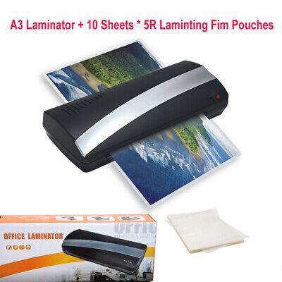 220v Homeoffice A3 Laminator Hotcold Laminating Machine 10 Sheetfilm Pouches