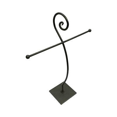 "15""H Raw Steel Jewelry Display Fixture Retail Store Rack Display"