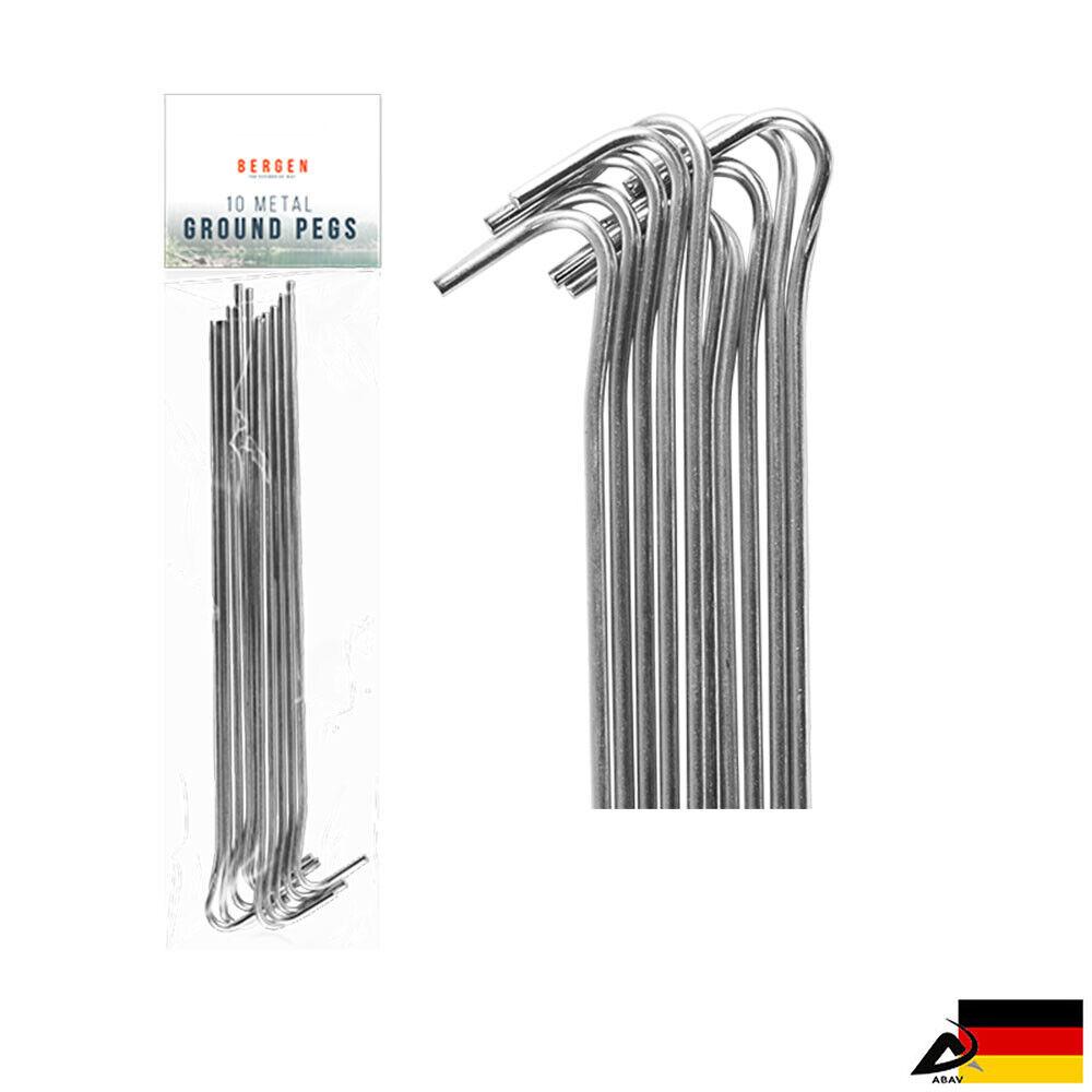 30 cm Zeltheringe Erdnagel Zelthering Heringe mit Schlagkopf 10 Erdnägel