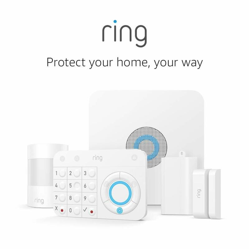 Ring Alarm Wireless Home Security 5 Piece Kit White Works with Alexa
