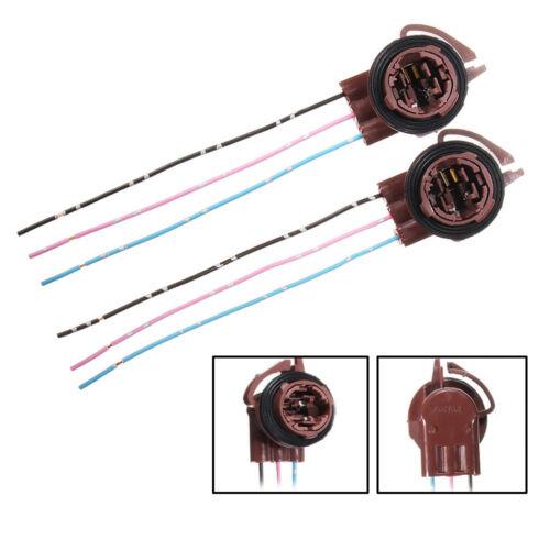 2x 3157 4157 Wiring Harness Socket For Turn Signal Tail Brake Backup Light Bulb