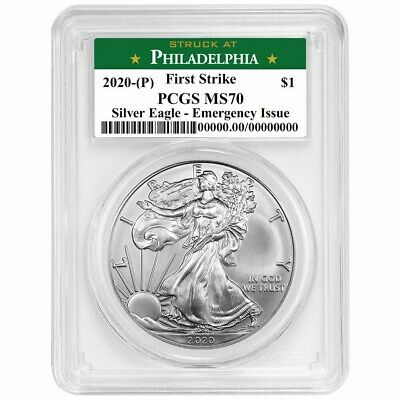 2020(P) Emergency Production American Silver Eagle - PCGS MS70 First Strike