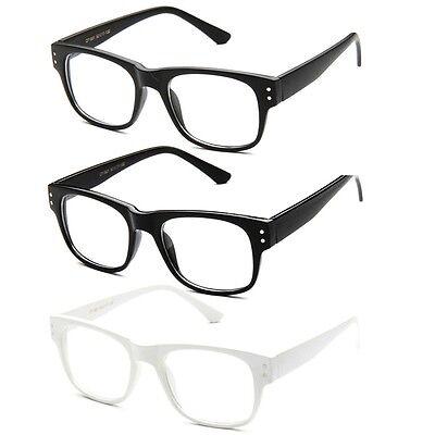 Clear Lens Horned Rim Bold Frame Nerdy Fashion Glasses Clear Lens Glasses (Bold Frame Glasses)