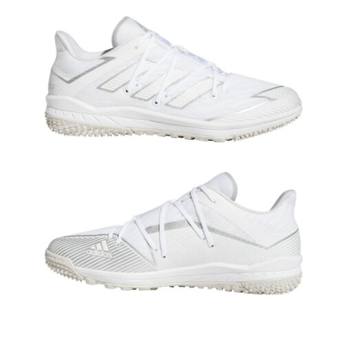 Adidas White Baseball Turf Shoes Adizero Afterburner 7 Turf Trainers White