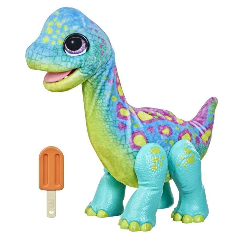 furReal Snackin' Sam the Bronto Interactive Animatronic Plush Toy, Ages 4 and up
