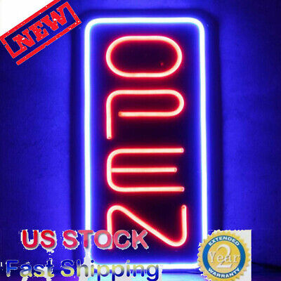 Bright 23.6x11.8 Vertical Neon Open Sign 30w Led Light Bar Home Business Pvc