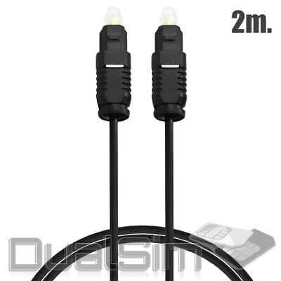 Optisches Toslink Kabel 2m HQ Digital Optical Audio Cable LWL SPDIF Male