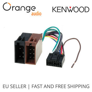 kenwood 16 pin iso lead wiring loom power adaptor wire. Black Bedroom Furniture Sets. Home Design Ideas