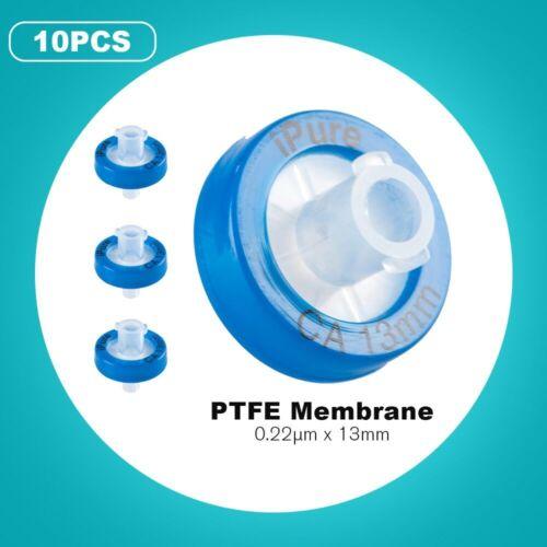 10Pcs CA Syringe Filter, 13mm, 0.22μm Cellulose Acetate Membrane w/ PP Prefilter