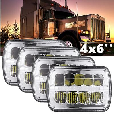 4X 4x6'' LED Headlights Clear Hi/Lo Sealed Beam For Freightliner FLD120 FLD112 for sale  USA
