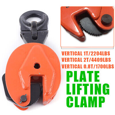 Industrial Vertical Plate Lifting Clamp Wll 0.8t 1t 2t Heavy Equipment Lift