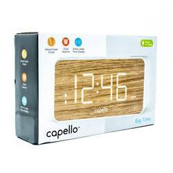 Capello Extra Large LED Display Digital Dual Alarm Clock - Battery Backup