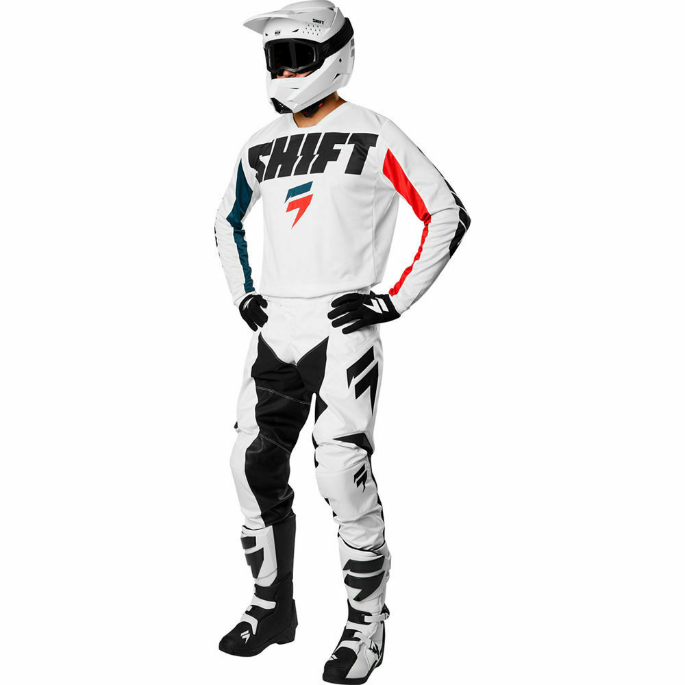 Equipement Tenue Motocross Shift Racing White York Blanc Downhill Enduro OUTLET