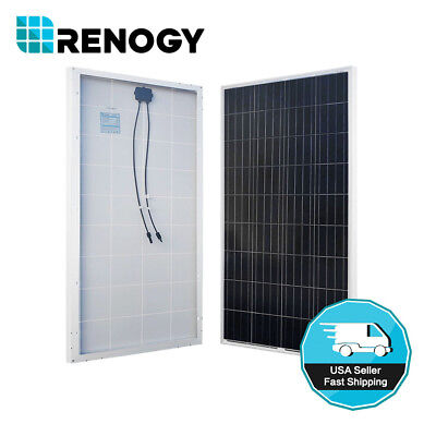 Renogy 160W Watts Solar Panel 12 Volt Poly Off Grid For Battery Charge Rv Boat