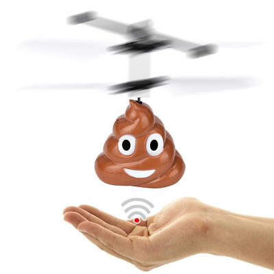 Toys for 3 4 5 6 7 8 9 Years Old Boys Fun Poop Style Flying Helicopter