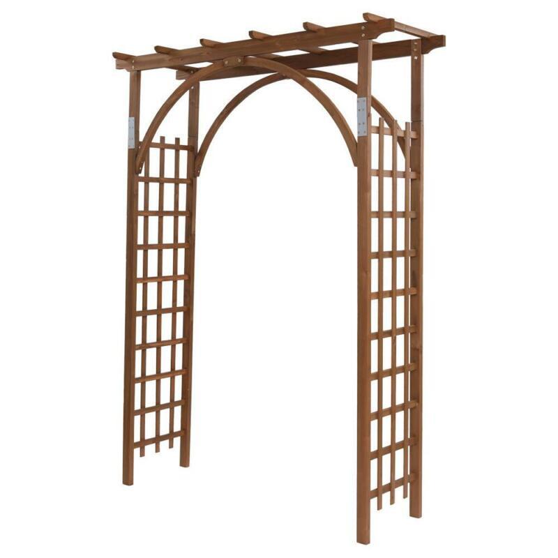 8ft Wooden Garden Arbor Arches Trellis for Wedding Party Climbing Plant Outdoor