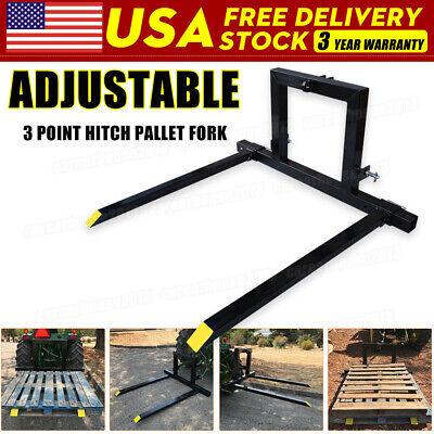 Adjustable 3 Point Pallet Hitch Fork Attachment Cat 1 Quick Hitch Logs Fields Us