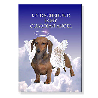 DACHSHUND Guardian Angel FRIDGE MAGNET No 1 Doxie DOG