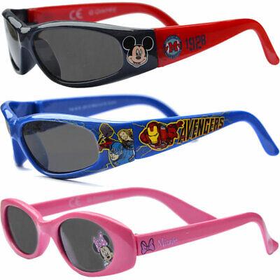 Kinder Sonnenbrille Brille UV-Schutz Frozen Minnie Mickey Mouse Avengers Neu