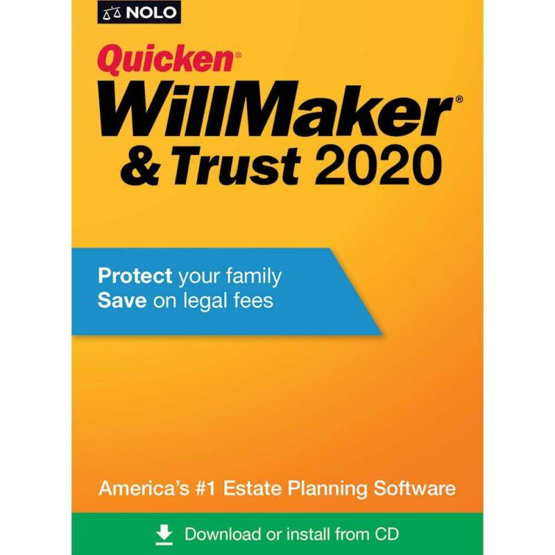 Nolo - Quicken WillMaker & Trust 2020 - Mac, Windows