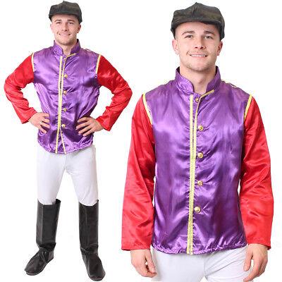 MENS JOCKEY COSTUME HORSE RACING FANCY DRESS PURPLE - Horse Racing Kostüme