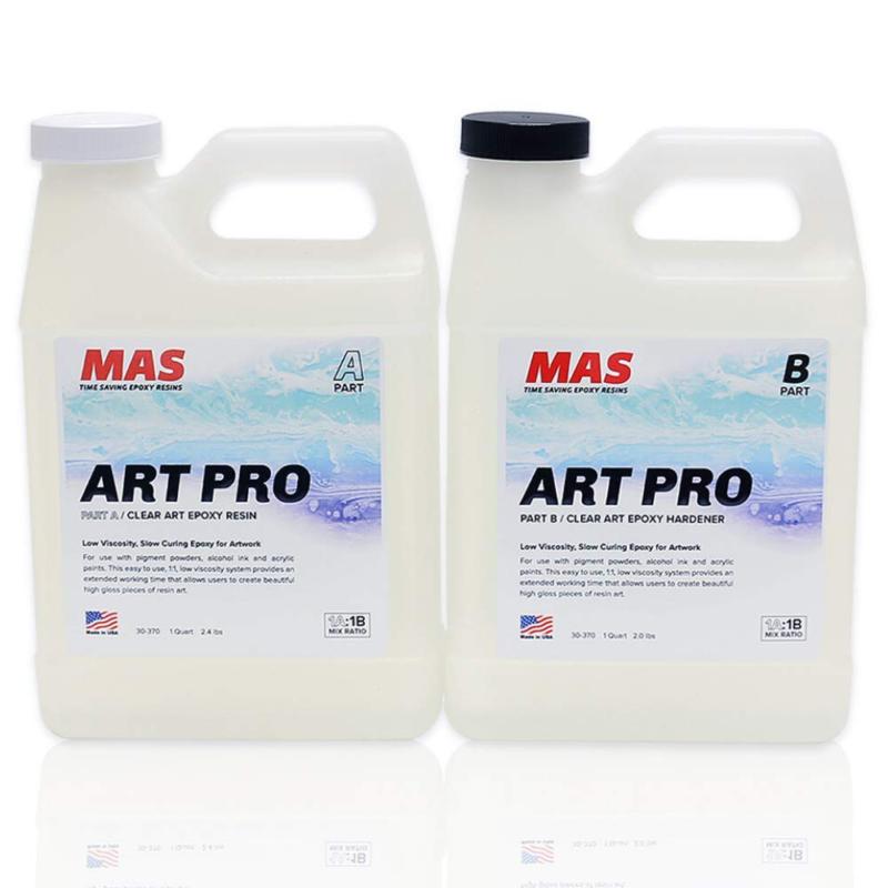 MAS Art Pro Epoxy Resin  Hardener   Two Part Art Resin Featu