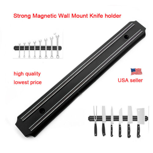 Magnetic Knife Tool Holder Rack Block Kitchen Bar Magnet Str