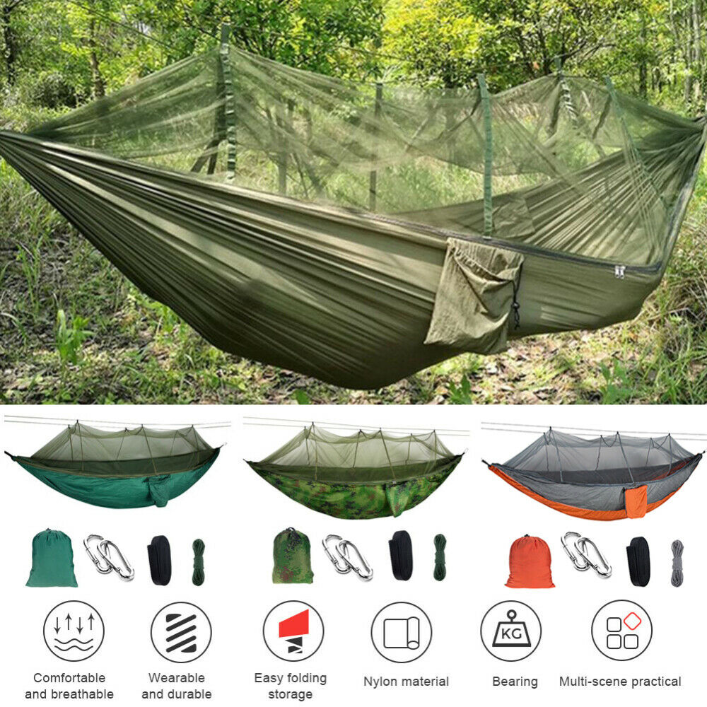 2Person Portable Outdoor Hammock Mosquito Net Camping Hangin