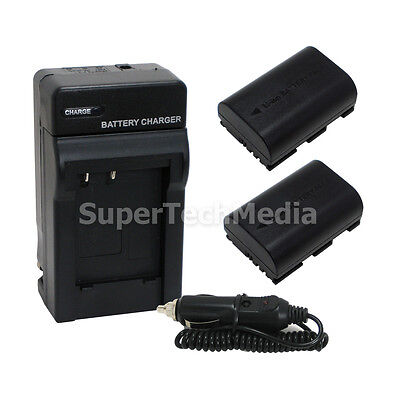 2 Battery + Charger Combo Kit for Canon LP-E6 EOS 6D 7D 7D Mark II 60D 70D 80D for sale  Shipping to India