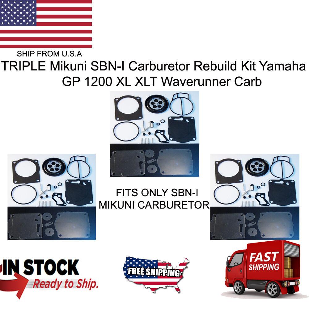 TRIPLE Mikuni SBNI Carburetor Rebuild Kit Yamaha GP 1200 XL XLT Waverunner