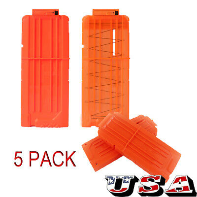 5 Pack Replacement 12 Bullet Darts Clip Magazine Compatible for NERF Toy Gun US