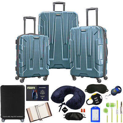 Samsonite Centric 3pc Hardside Luggage Set, Teal w/ Ultimate 10pc Accessory Kit