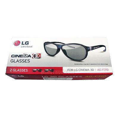 GENUINE LG AG-F310 PASSIVE 3D GLASSES - 2 Pack - 3 D Glasses