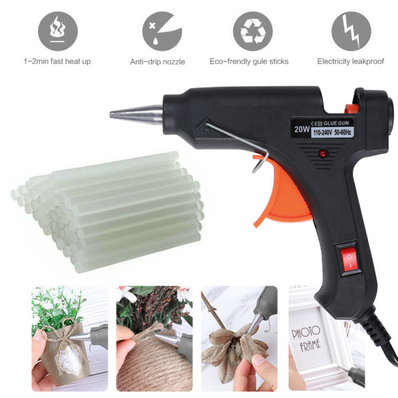 100PCs Mini Hot Melt Glue Gun Sticks 7MM/11MM Clear White High Adhesive Sticks