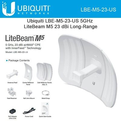 Ubiquiti LBE-M5-23 US Version 5GHz LiteBeam 23dBi airMAX