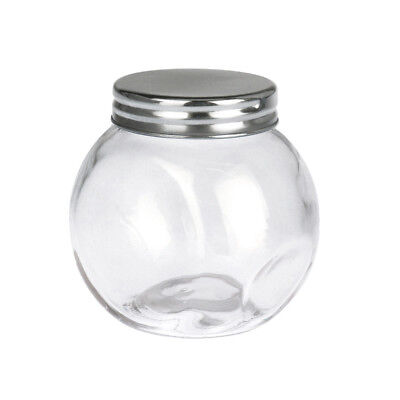 Clear Glass Candy Jar with Silver Lid, - Candy Jar