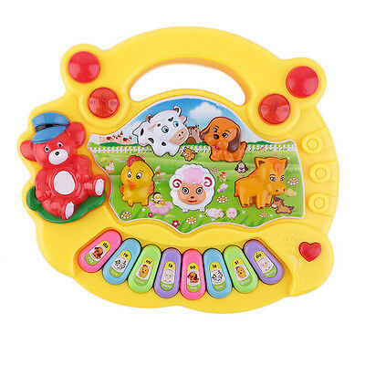 Baby Kids Musical Educational Animal Farm Piano Developmental Music Toy Gift US