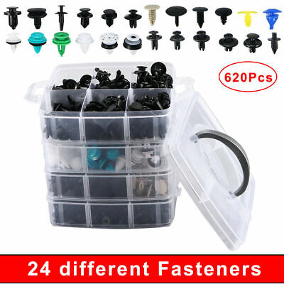 Car Parts - 620x /Set Bumper Clip Plastic Car Fasteners Fender Repair Parts Clips 24 Kinds