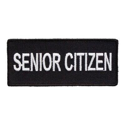 Senior Citizen Black & White Patch, Funny Name Patches