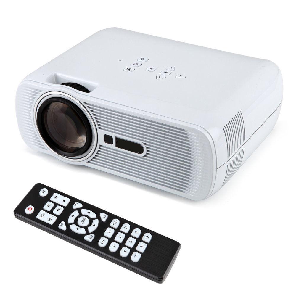 BRAND NEW,WHITE,2000 lumen Mini LED HD 1080P Projector 3D