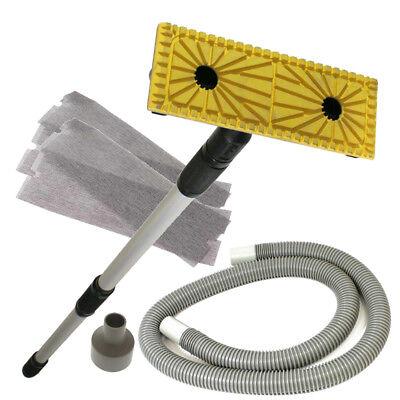 "Hyde Dust Free Drywall Pole Sander w/ 56"" Extension Pole, Hose & Sanding Screens"