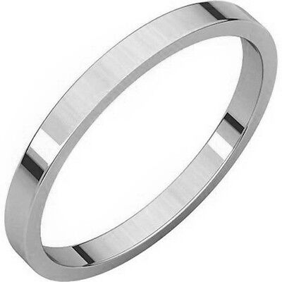 (SOLID 3MM  .925 STERLING SILVER FLAT WEDDING BAND ALL SIZES #1 SELLER ON EBAY!)