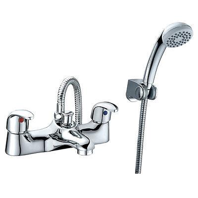 Titan Chrome Bath Shower Mixer Filler Tap Modern Low Pressure Shower Handset -