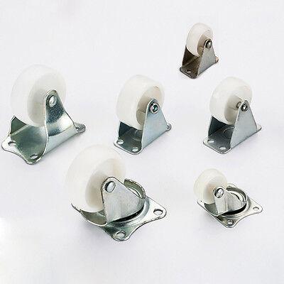 Nylon Rigid Swivel Caster Wheels Plate Casters For Utility Carts Sofa Fruniture
