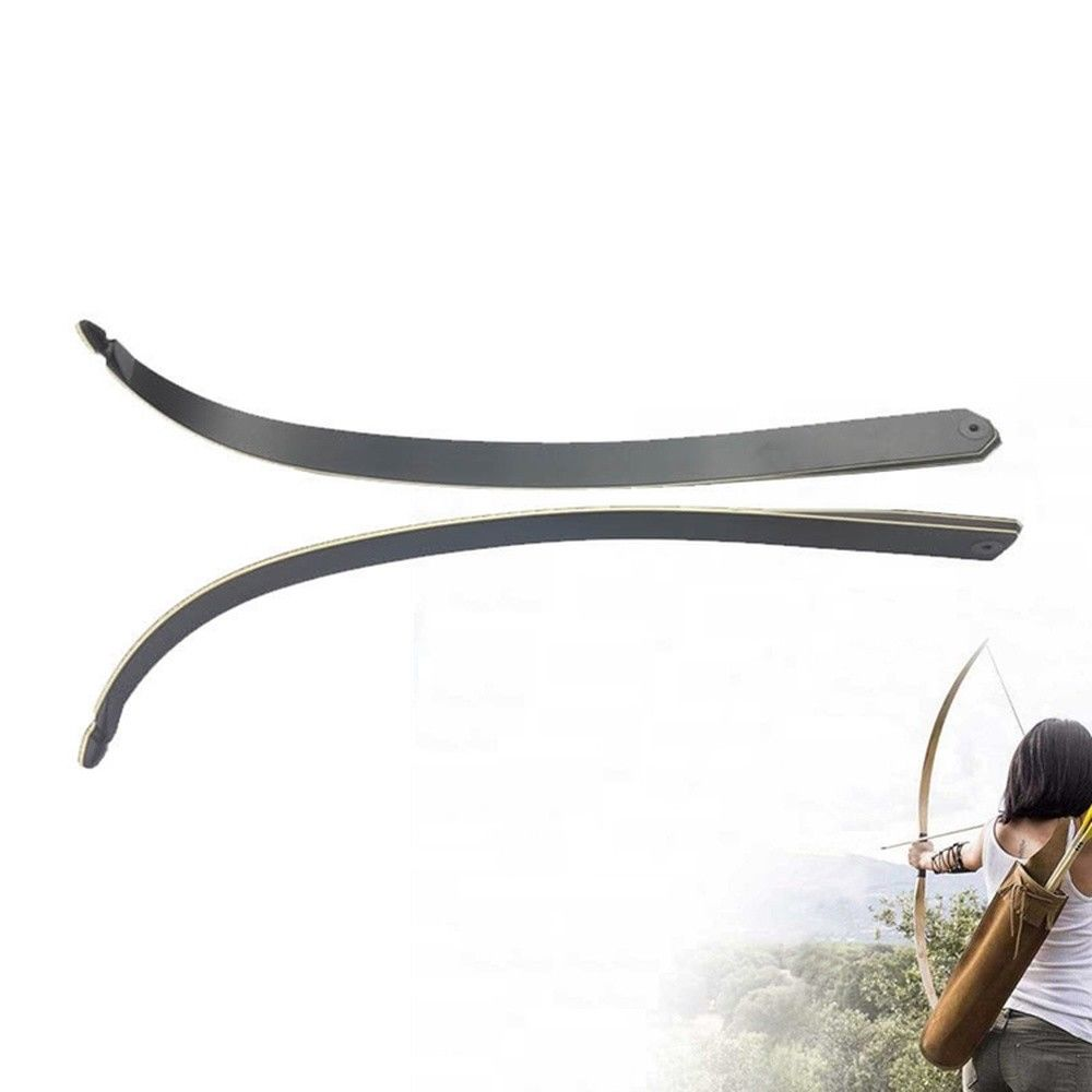 """1pair 30-60Ibs Recurve Bow Limbs 60/"""" TakeDown Bamboo Core Archery Hunting Shoot"""