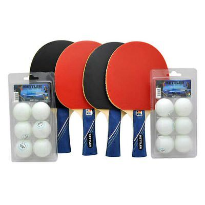 KETTLER GTX85 Table Tennis Paddles Set, 4 Players