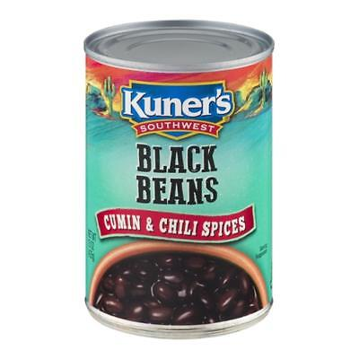Kuners-Southwestern Black Beans With Cumin, Pack of 4 ( 15 oz cans -