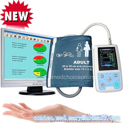 Usa Shipped 24 Hours Ambulatory Blood Pressure Monitor Holter Abpm With Cuff