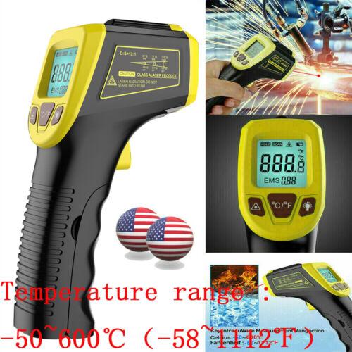 Industrial Infrared Thermometer IR Digital LCD Temperature Gun Laser Pyrometer